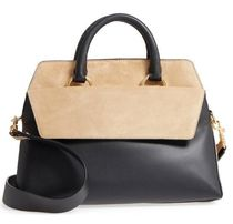 Large Leather & Suede Satchel