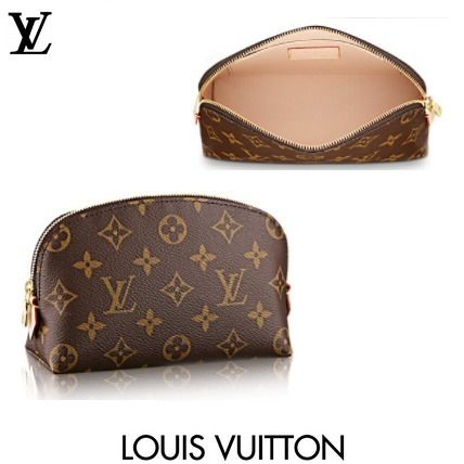 Louis Vuitton メイクポーチ LUIS VUITTON ルイヴィトン ポシェット コスメティック Monogram