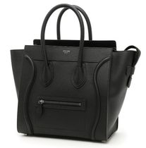 CELINE Mini Luggage Bag in Drummed Calfskin