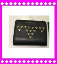 SALE!! 関税込み国内発送GIVENCHY スタッズ ミニ財布◆黒