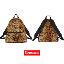 17AW Supreme Leopard Fleece Backpack バックパック 送料込