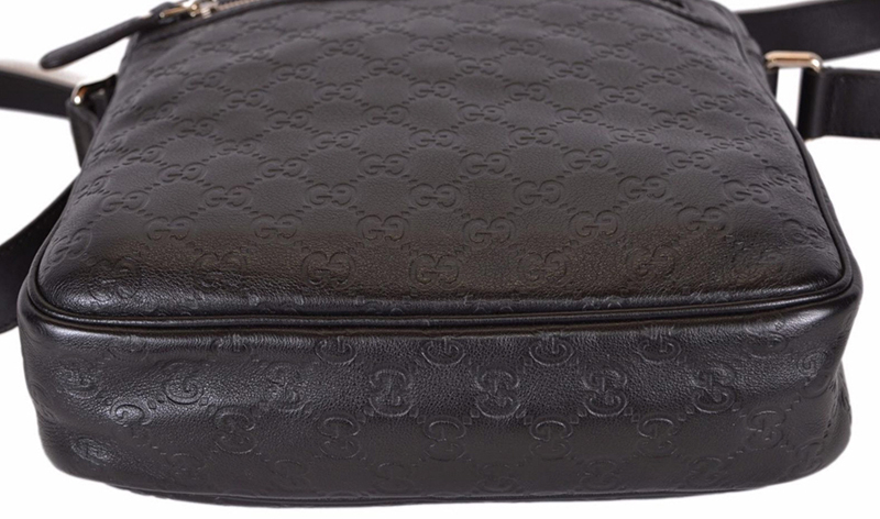 GUCCI★グッチ★素敵!Brown Leather GG Guccissima Shoulder Bag