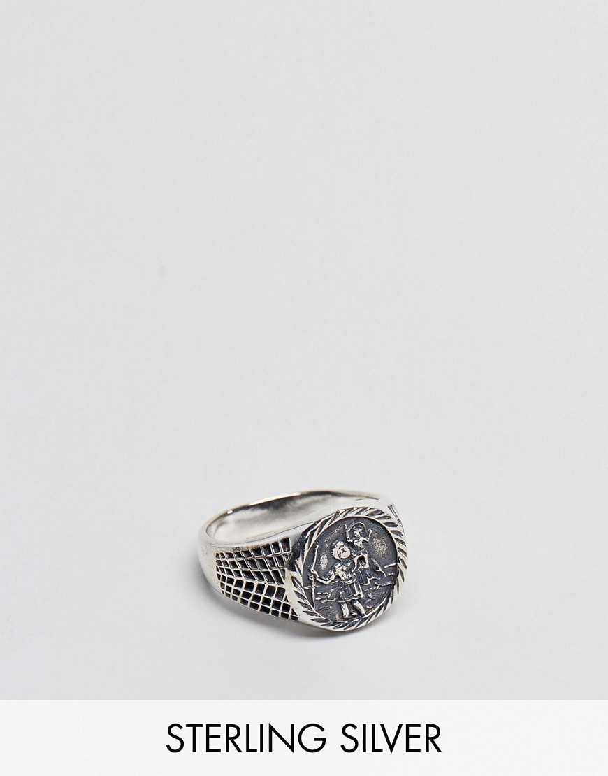 ○送料込○ ASOS Sterling Silver Sovereign Ring With St