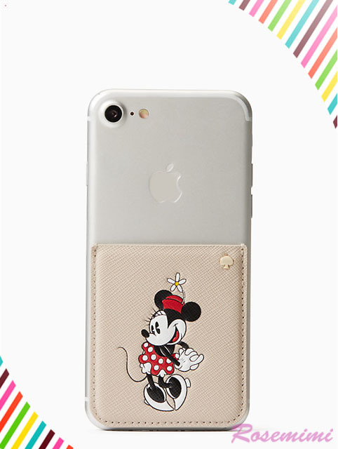 Kate spade  minnie mouse sticker pocketステッカーポケット