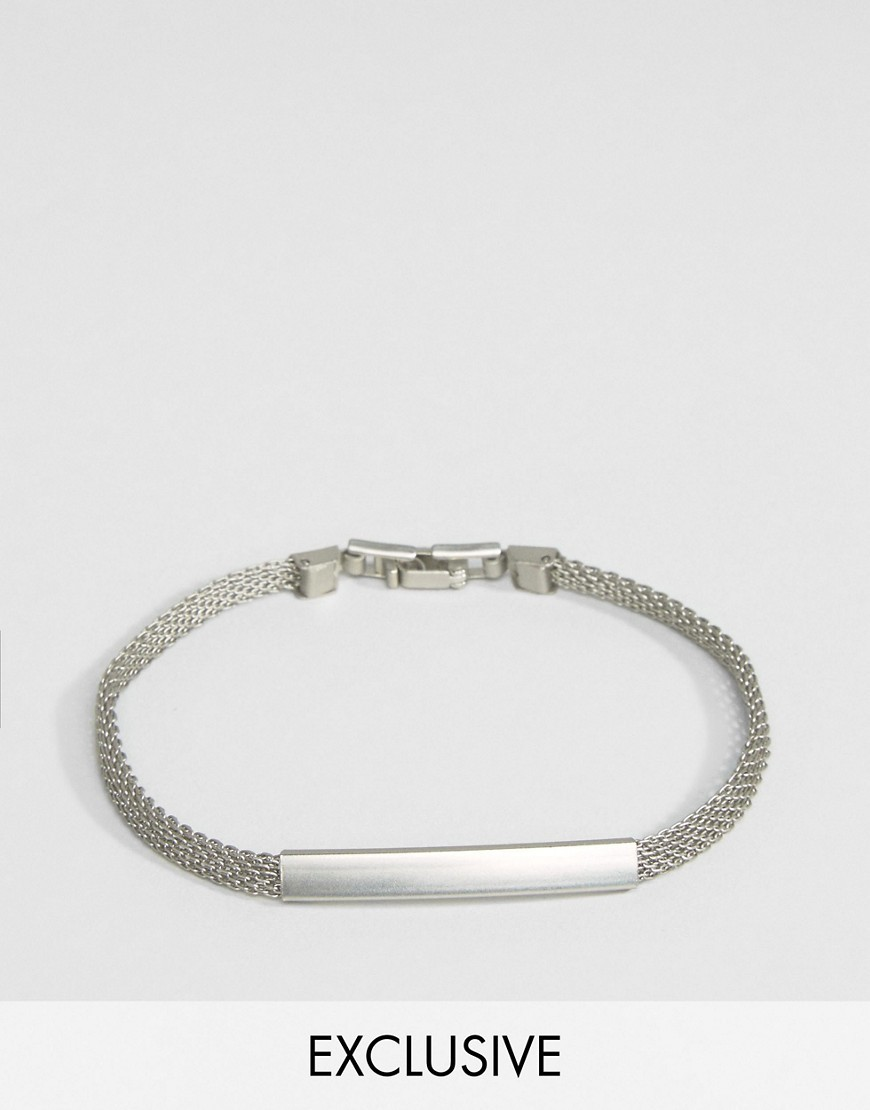 ○送料込○ DesignB London Chain ID Bracelet In Silver