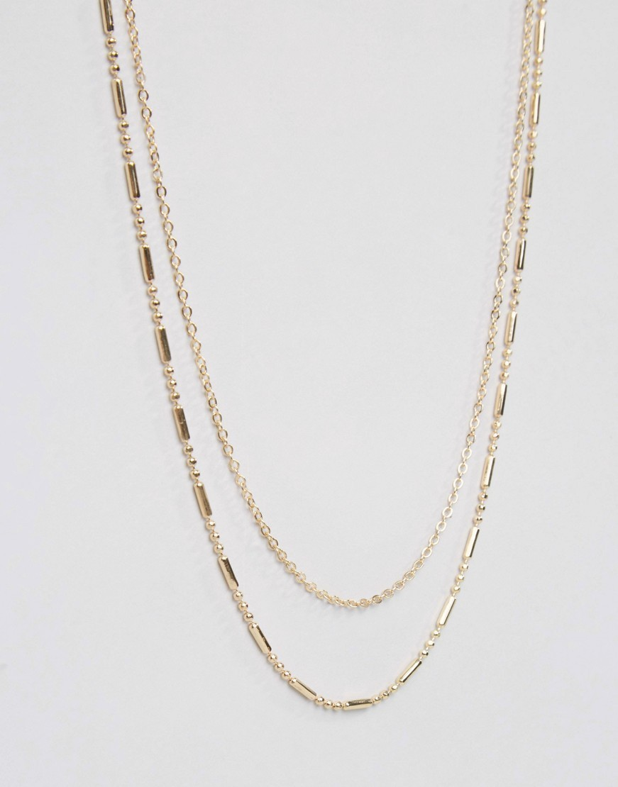 ○送料込○ DesignB Double Chain Necklace In Gold Exclusive