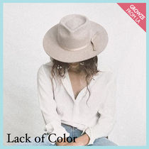 【lack of color】ヴィンテージ風 フェドラシルエットハット