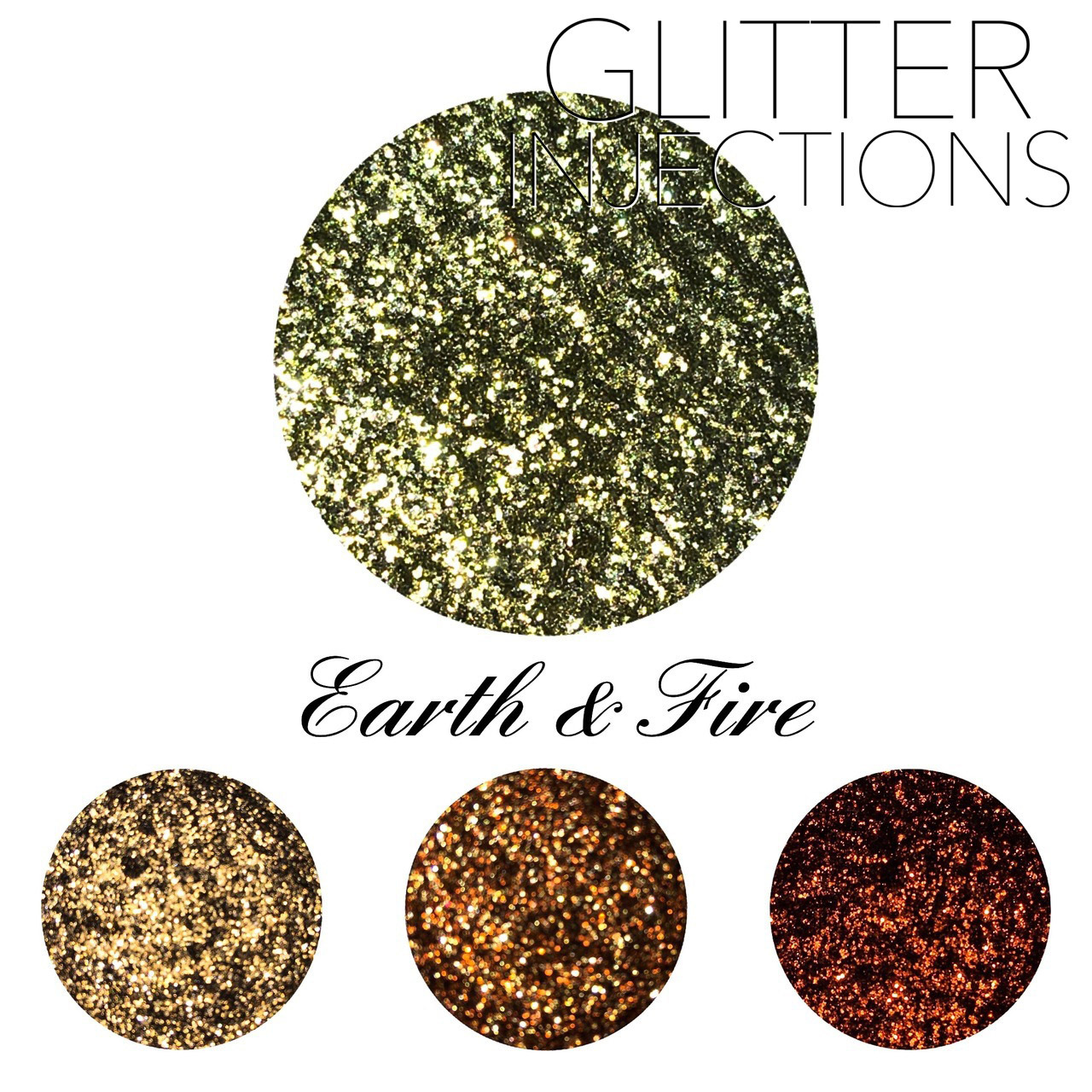 ♪GLITTER INJECTIONS♪ キラキラ EARTH & FIRE 4色入り
