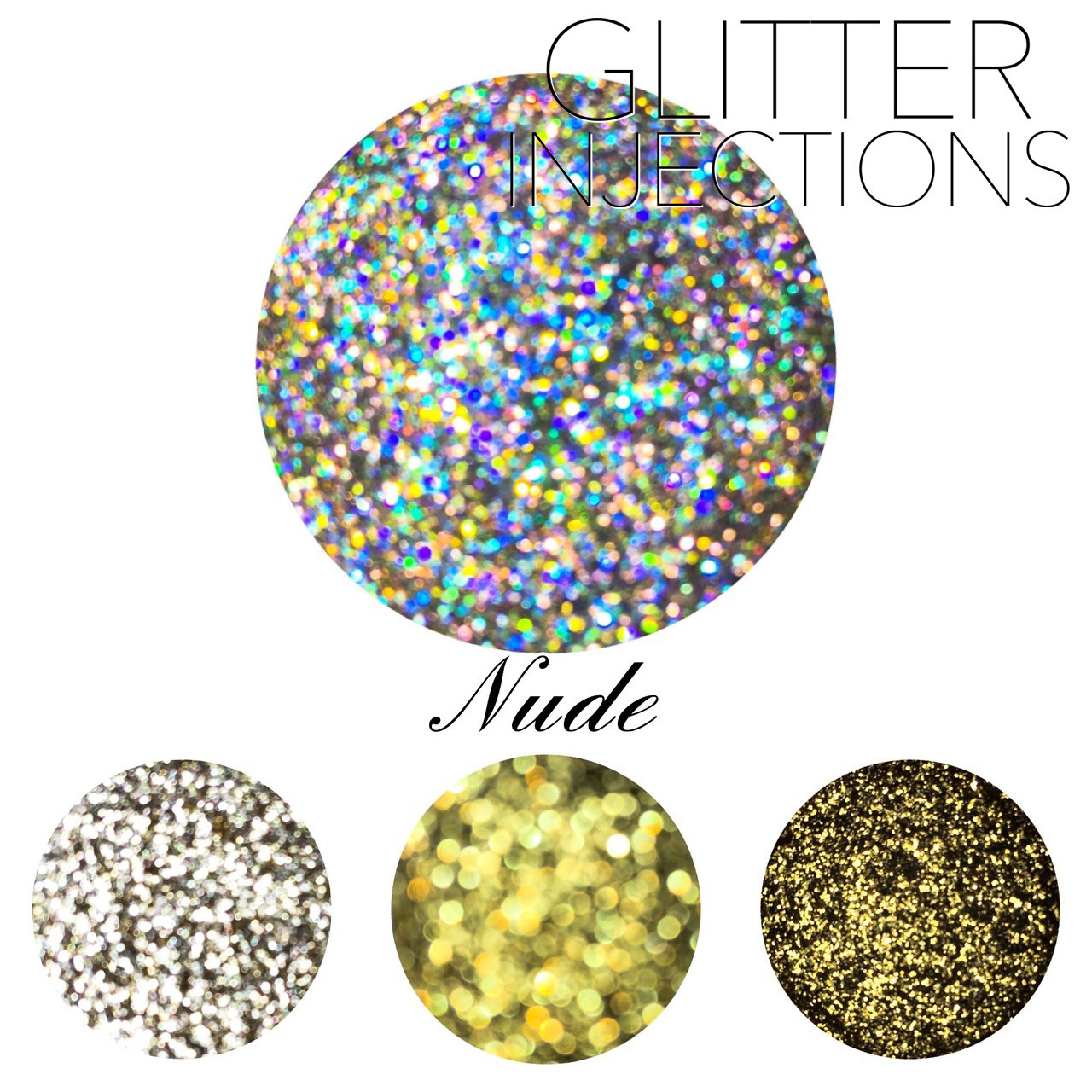 ♪GLITTER INJECTIONS♪ キラキラ NUDE 4色入り