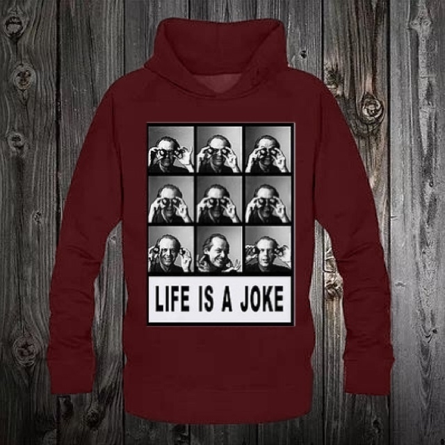 ★NO COMMENT PARIS★パーカー life is a joke  送料関税込