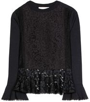 Lace-trimmed cotton-blend see by chloe トップス セール