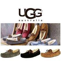 BLUE MOUNTAINS UGG BOOTS(ブルーマウンテンアグブーツ) フラットシューズ 【即完売品!】UGG Dakota Leather Ankle-High Suede Slipper