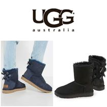 BLUE MOUNTAINS UGG BOOTS(ブルーマウンテンアグブーツ) ロングブーツ 【即完売品!】UGG Bailey Bow II Ankle-High Suede Boot
