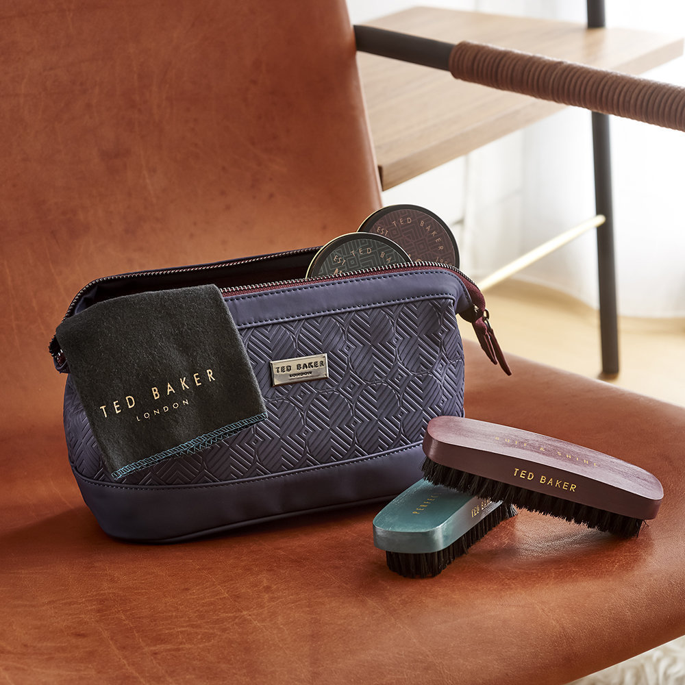 【TED BAKER】靴磨きセット☆Shoe Shine Kit - Blue Cadet