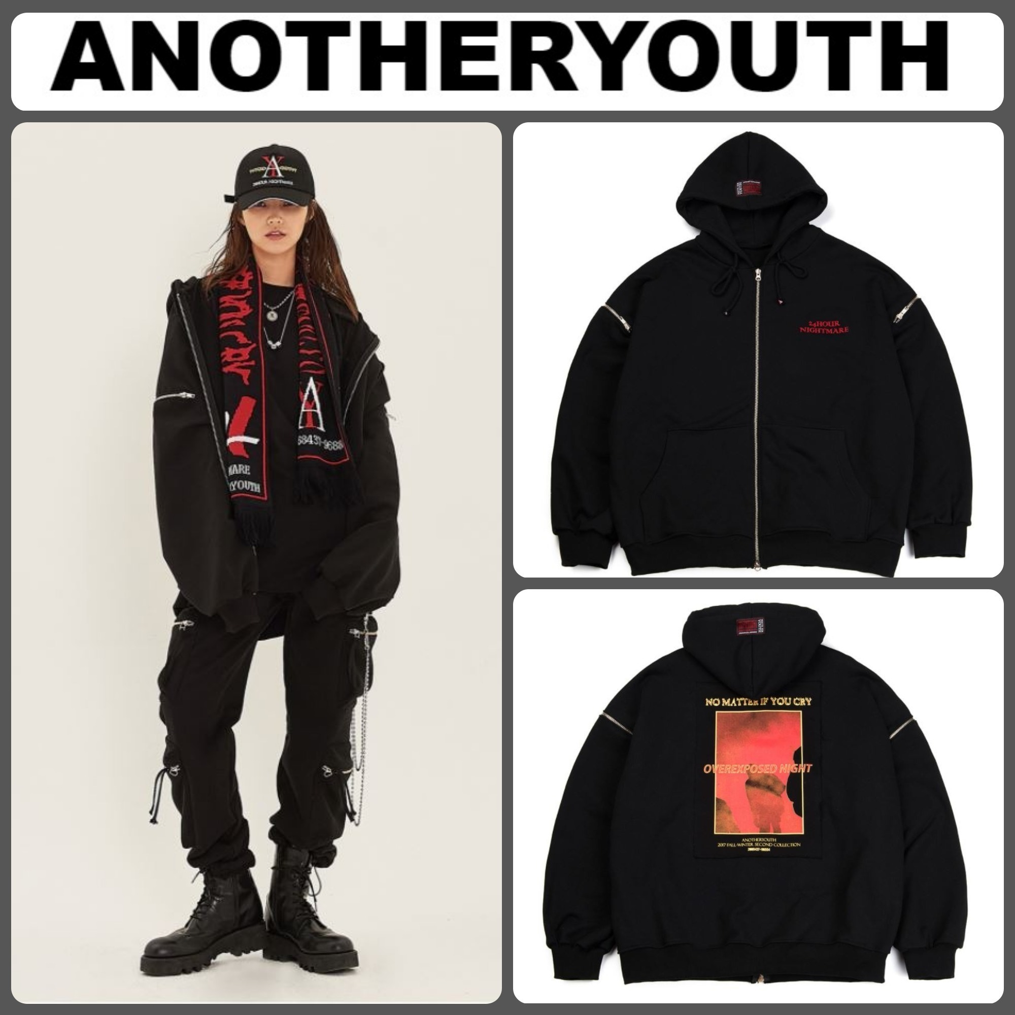 【ANOTHERYOUTH】正規品★Heavy Cotton Zip-Up Hood /追跡送料込