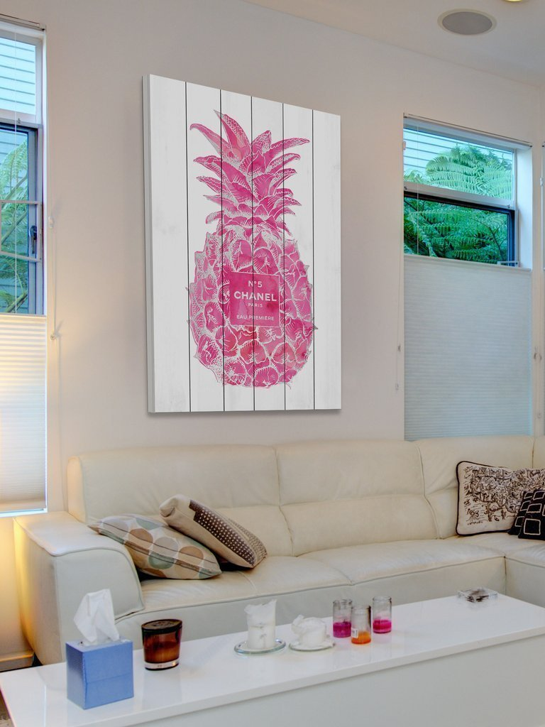 Marmont Hill 超特大 102x152cm ウッド Pineapple Pink Silver