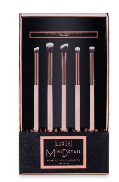 Luxie限定ブラシセット☆Rose Gold Mini Detail Eye Brush Set