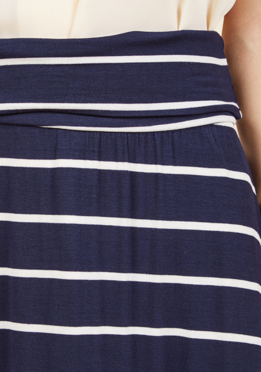 ◎送料込み◎  days of fold maxi skirt in striped navy