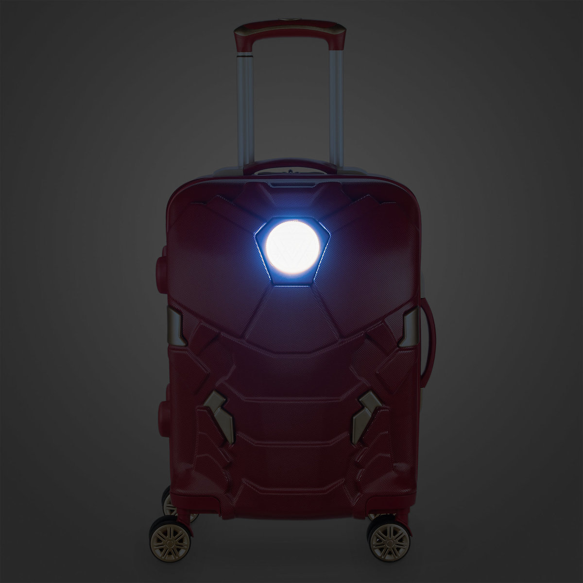 ○送料込○ Iron-Man Light-Up Rolling Luggage