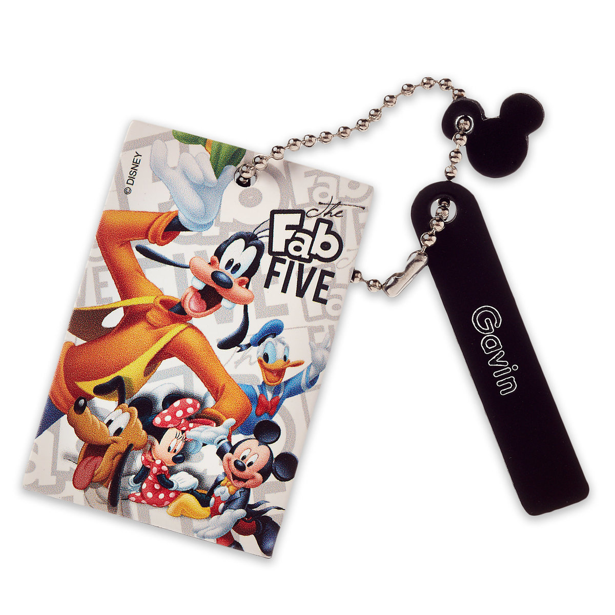 ○送料込○ Mickey Mouse and Friends Leather Bag Tag -