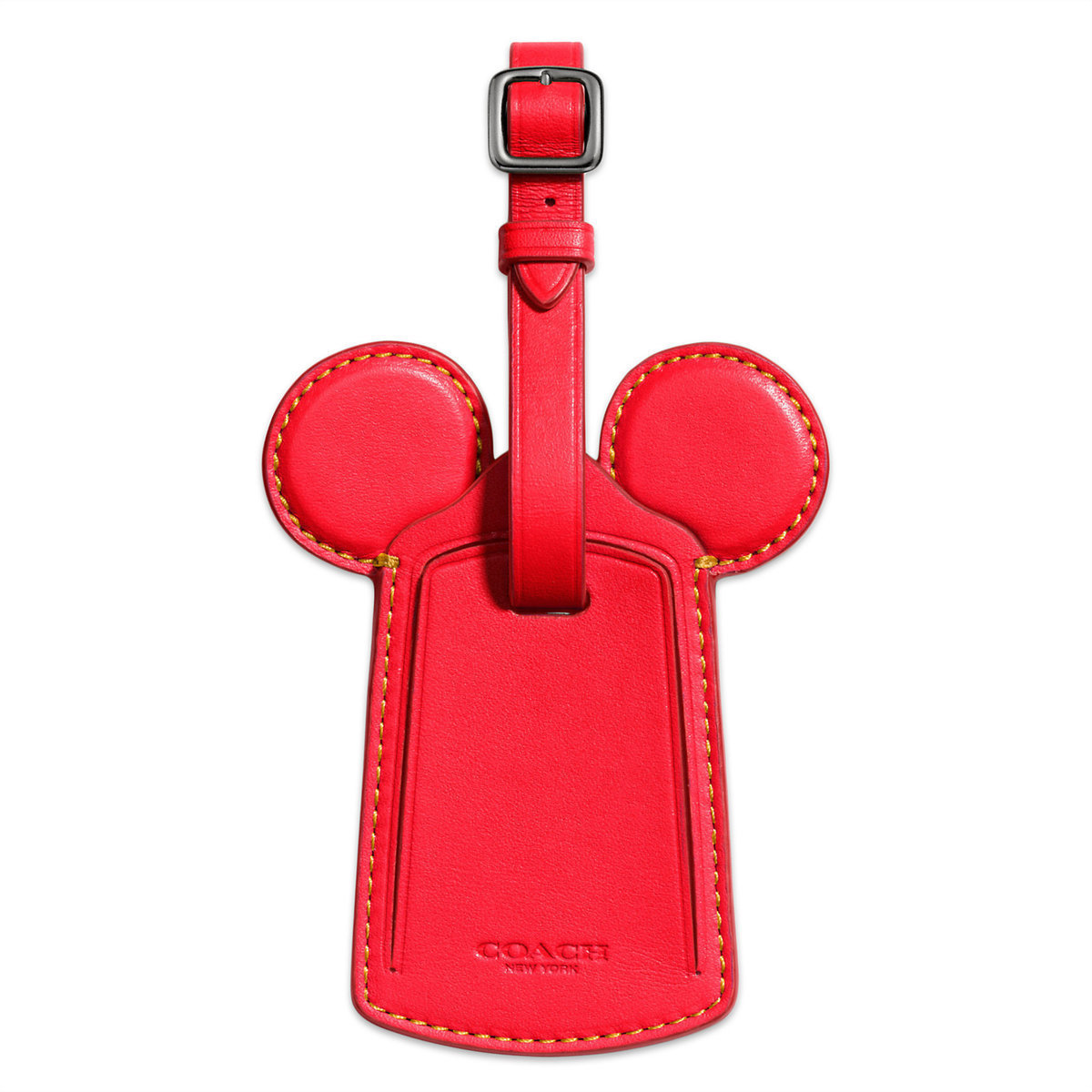 ○送料込○ Mickey Mouse Ears Leather Luggage Tag by COACH -
