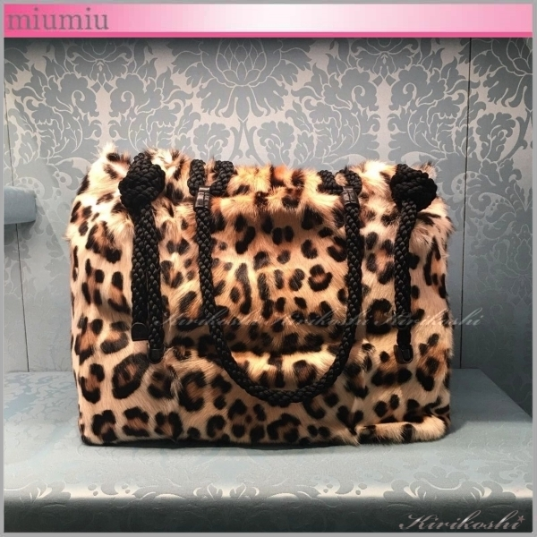 ◆miumiu◆VIP Sale!40%off◆TOTE BAG◆トート◆レオパード