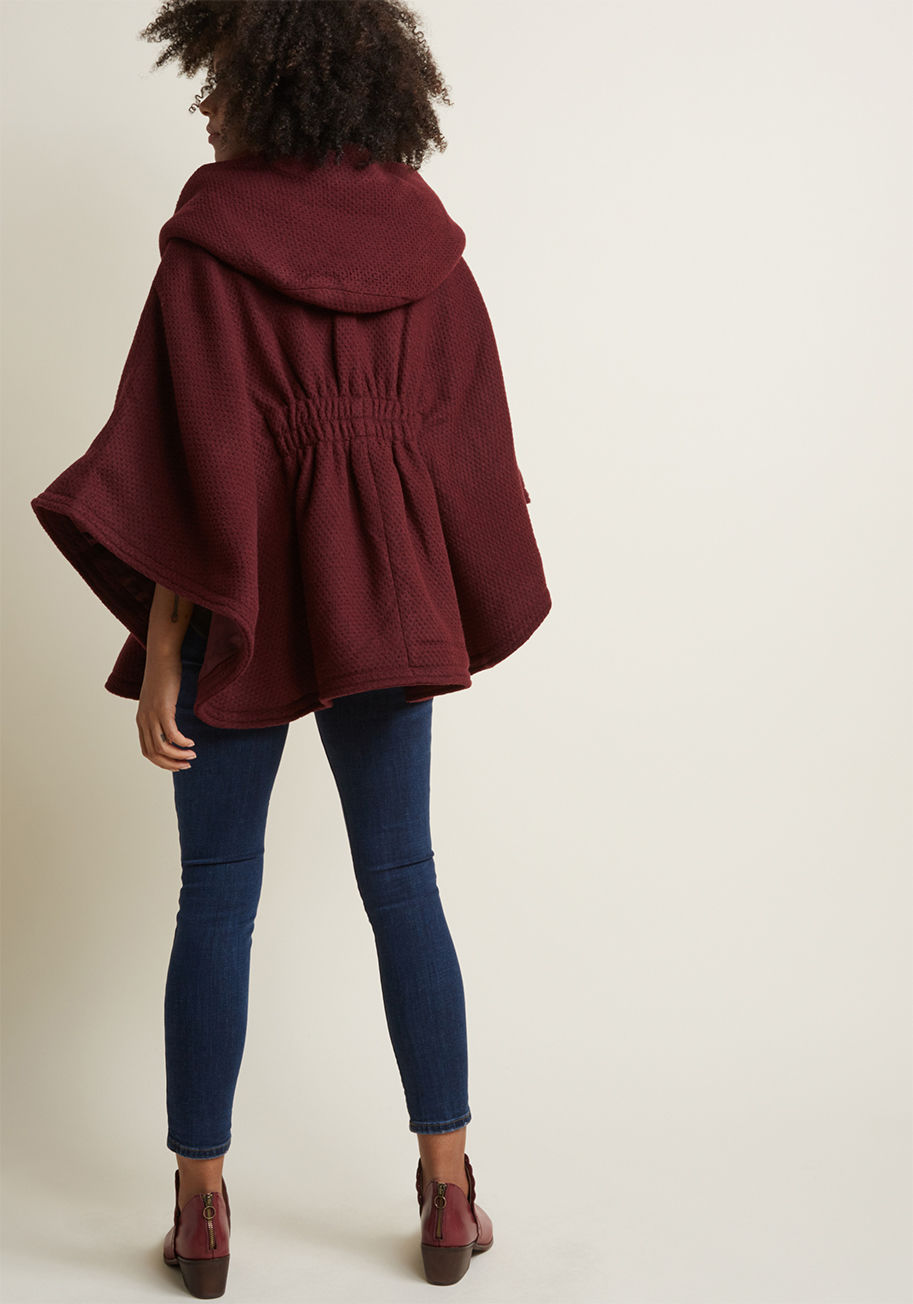 ○送料込○ hood if i could cape in merlot