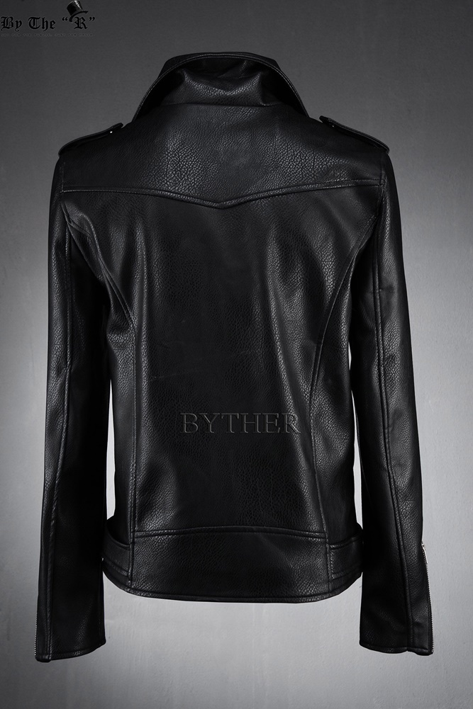 ★韓国の人気★BTHR★MINI POCKETS BELTED RIDER JACKET BLACK★