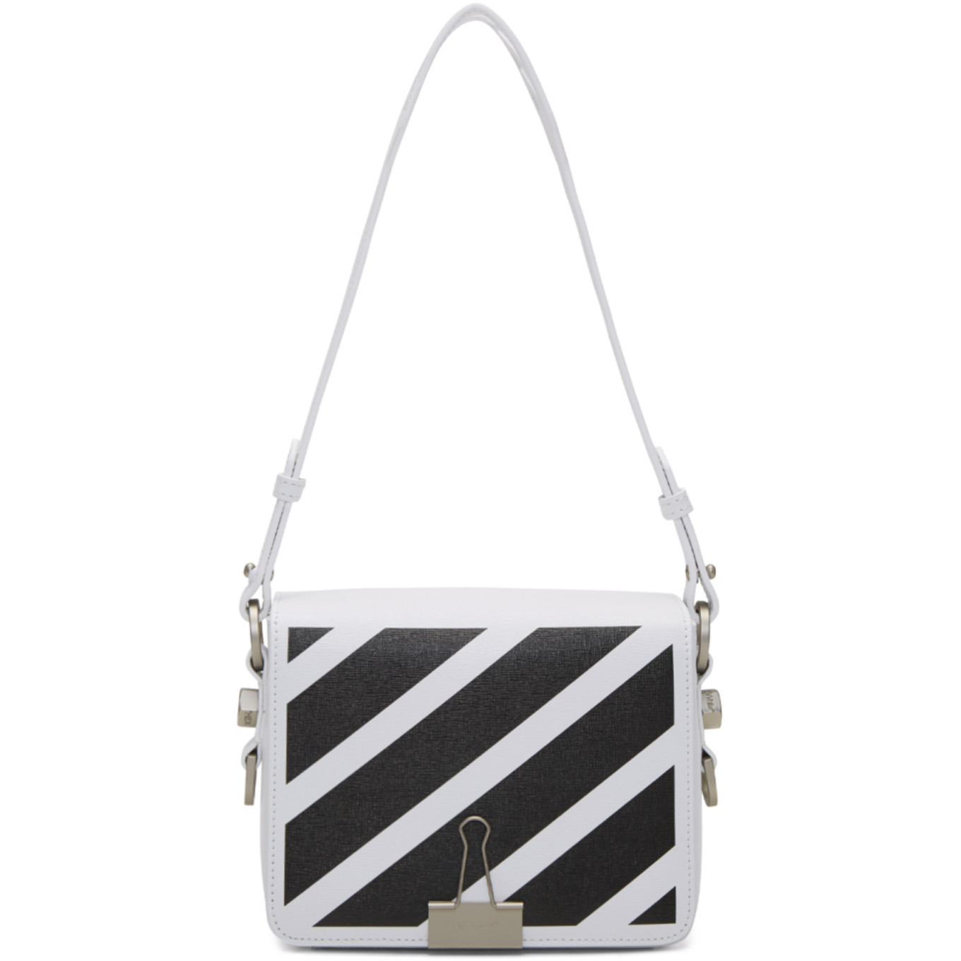 あのローラさんも愛用!!OFF- WHITE Diagonal Binder Clip Bag