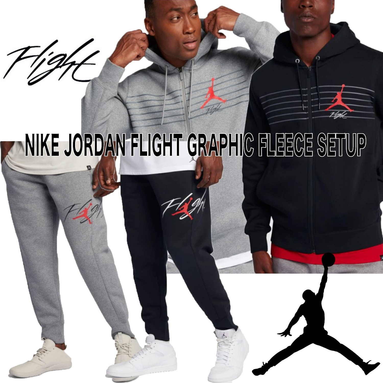 NIKE / JORDAN FLIGHT GRAPHIC FLEECE セットアップ