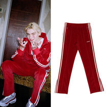 ★NERDY★韓国 ジャージボトムス Velour Track Pants Burgundy