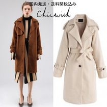 国発/送関込☆Chicwish☆Fuzzy Touch Longline Wool-Blend Coat