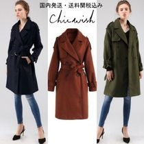 国発/送関込☆Chicwish☆Snug Double-Breasted Wool-Blend Coat
