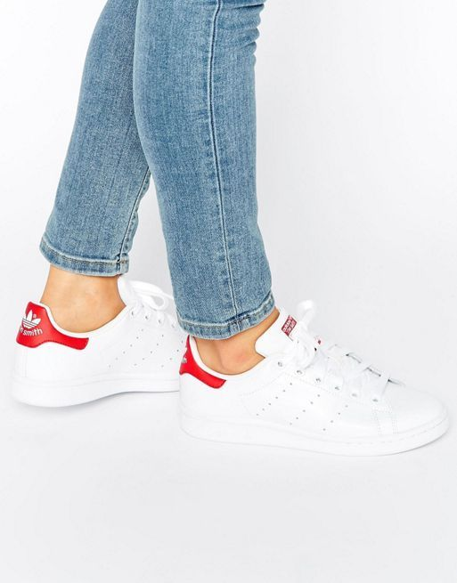 アディダス adidas Originals White And Red Stan★スニーカー★