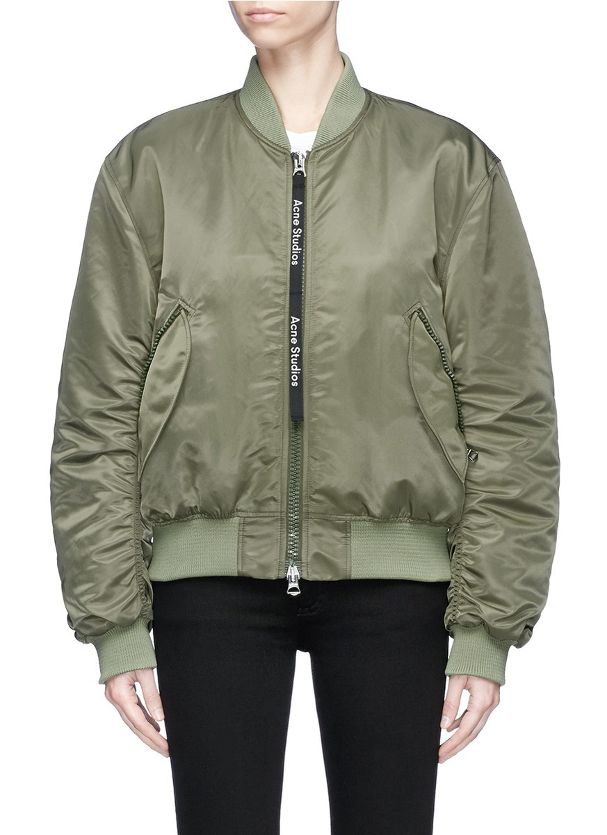 【国内発送】ACNE 'Clea' padded bomber jacket