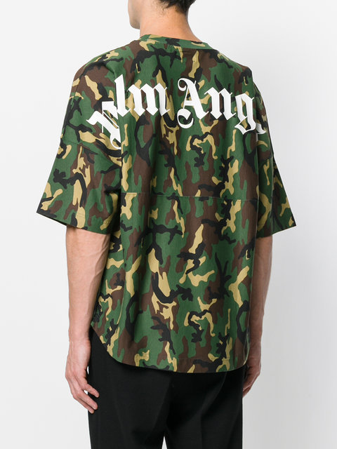 Palm Angels t-shirt oversize imprime camouflage シャツ