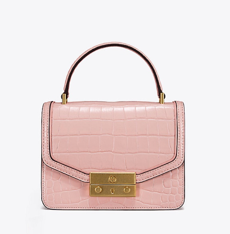 Tory Burch JULIETTE EMBOSSED MINI TOP-HANDLE SATCHEL
