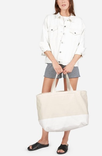 Everlane-The Beach Canvas Tote バッグ 関税・送料込み
