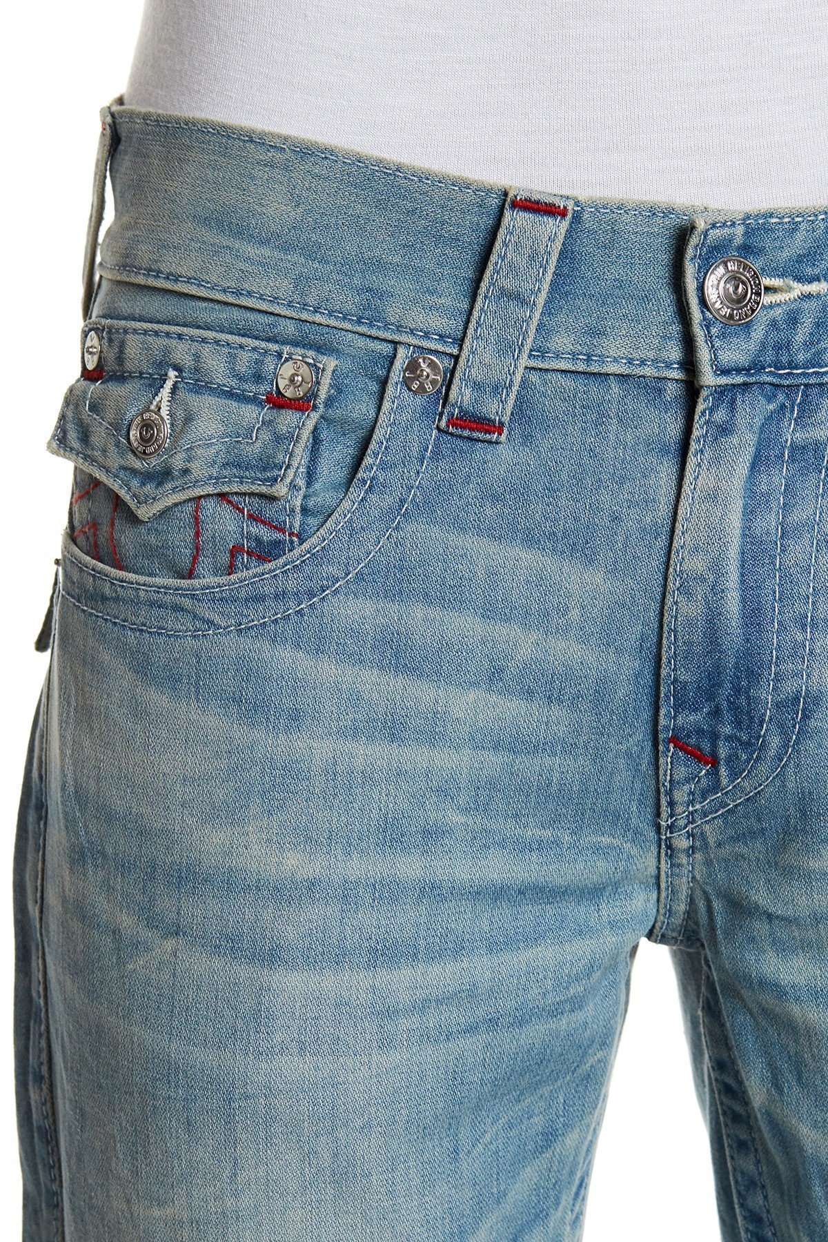 送料・関税込み Straight Leg Flap Pocket Jeans デニム