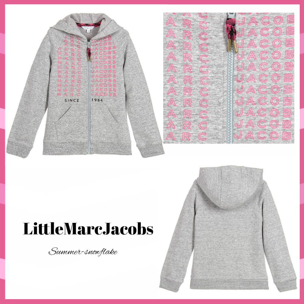 ★Little Marc Jacobs★大人OK!ピンクロゴジップアップトップ