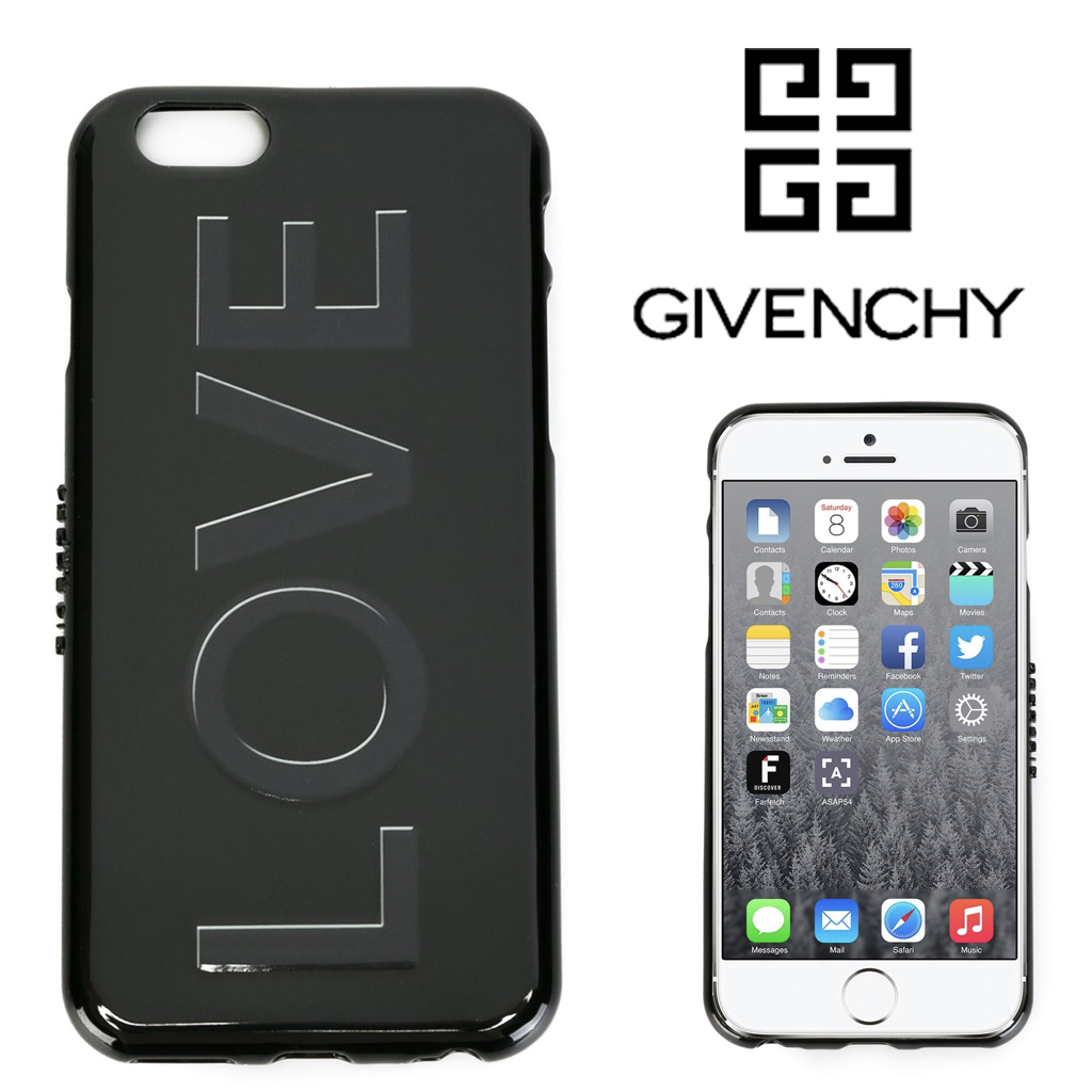 【18SS】GIVENCHY/LOVEデザインiPhone6用 ブラック