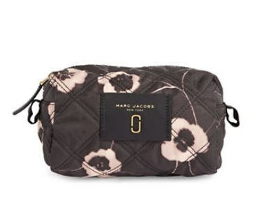 MARC JACOBS violet vines printed knot large cosmetic