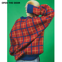 ★ OPEN THE DOOR★cross check boxy sweater(wn)