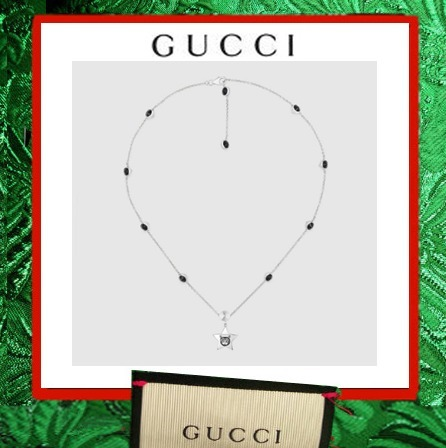 ☆GUCCI☆Blind for Love シルバー ネックレス スターモチーフ