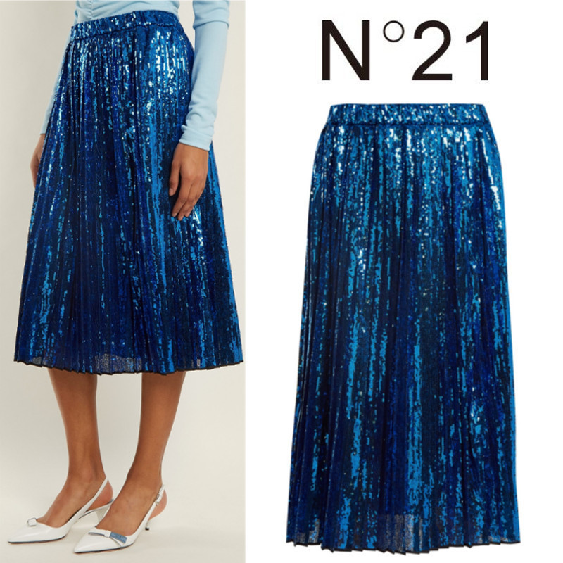 【18SS】大注目!!★N21★Sequin-embellished pleated skirt