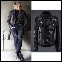 ★韓国の人気★BTHR★WAPPEN WASHED SHEEP LEATHER RIDER JK★