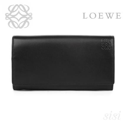 LOEWE★ロエベ Continental Wallet Black/Candy