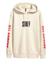 Printed Hooded Sweatshirt (PURPOSE TOUR  beige) Lサイズのみ