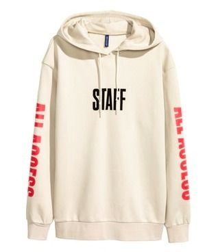 H&M パーカー・フーディ Printed Hooded Sweatshirt (PURPOSE TOUR  beige) Lサイズのみ