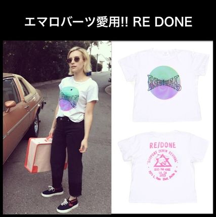 RE DONE Tシャツ・カットソー 人気急上昇!!エマロバーツ愛用 RE DONE VINTAGE WHITE Tシャツ